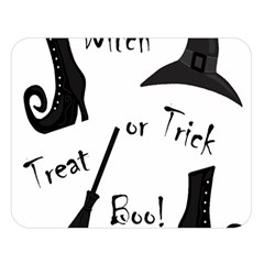 Halloween witch Double Sided Flano Blanket (Large)