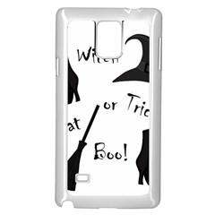 Halloween witch Samsung Galaxy Note 4 Case (White)