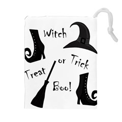 Halloween witch Drawstring Pouches (Extra Large)