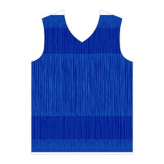 Scribbled Two Tone Blue Men s Basketball Tank Top