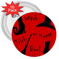 Witch supplies  3  Buttons (10 pack)
