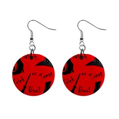 Witch supplies  Mini Button Earrings