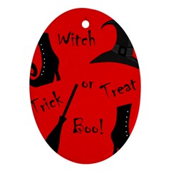 Witch supplies  Oval Ornament (Two Sides)