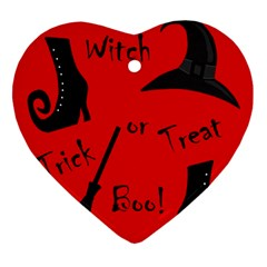 Witch supplies  Heart Ornament (2 Sides)