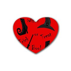 Witch supplies  Rubber Coaster (Heart)