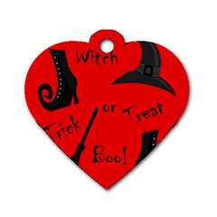 Witch supplies  Dog Tag Heart (One Side)