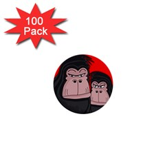 Gorillas 1  Mini Buttons (100 Pack)