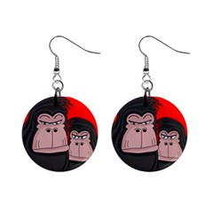 Gorillas Mini Button Earrings