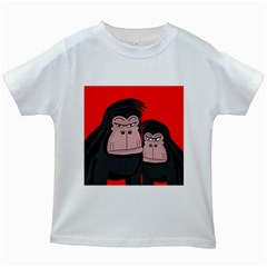 Gorillas Kids White T-Shirts