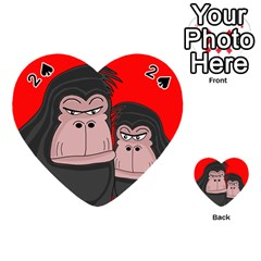 Gorillas Playing Cards 54 (Heart)