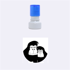 Gorillas Rubber Round Stamps (Small)