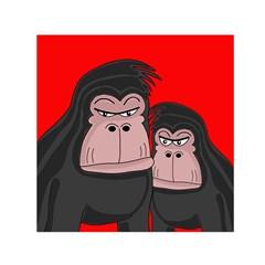Gorillas Small Satin Scarf (Square)