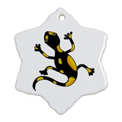 Lizard Snowflake Ornament (2-Side)