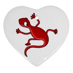 Red lizard Ornament (Heart)
