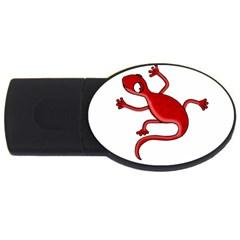 Red lizard USB Flash Drive Oval (1 GB)