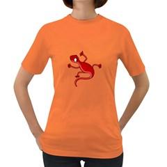 Red lizard Women s Dark T-Shirt