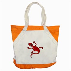 Red lizard Accent Tote Bag