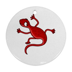 Red lizard Round Ornament (Two Sides)