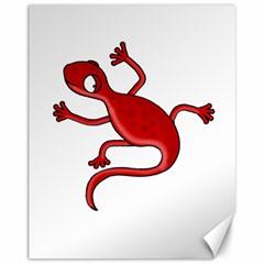 Red lizard Canvas 11  x 14