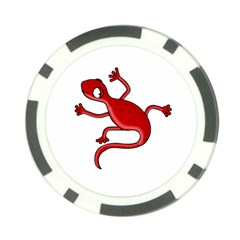 Red lizard Poker Chip Card Guards