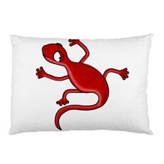 Red lizard Pillow Case