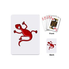 Red lizard Playing Cards (Mini)