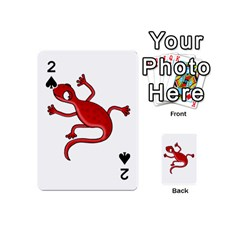 Red lizard Playing Cards 54 (Mini)