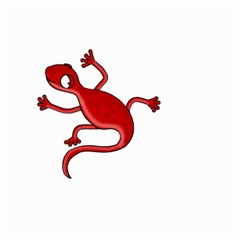 Red lizard Large Garden Flag (Two Sides)