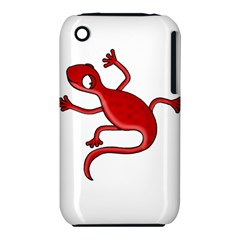 Red lizard Apple iPhone 3G/3GS Hardshell Case (PC+Silicone)
