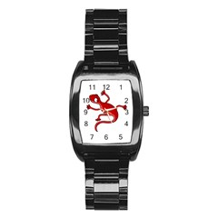 Red lizard Stainless Steel Barrel Watch
