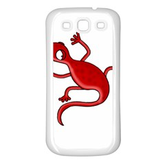 Red lizard Samsung Galaxy S3 Back Case (White)