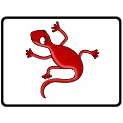 Red lizard Double Sided Fleece Blanket (Large)