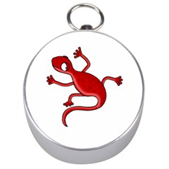 Red lizard Silver Compasses