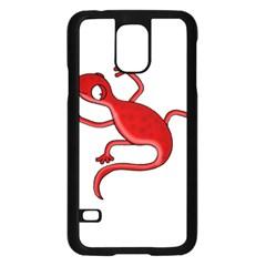 Red lizard Samsung Galaxy S5 Case (Black)