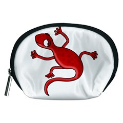 Red lizard Accessory Pouches (Medium)