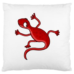 Red lizard Large Flano Cushion Case (Two Sides)