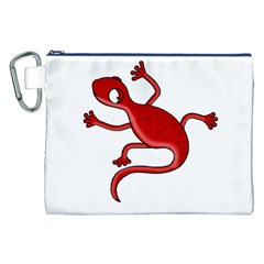 Red lizard Canvas Cosmetic Bag (XXL)