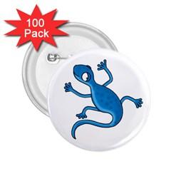 Blue lizard 2.25  Buttons (100 pack)