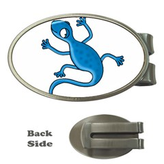 Blue lizard Money Clips (Oval)
