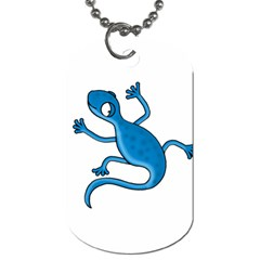 Blue lizard Dog Tag (Two Sides)