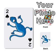 Blue lizard Playing Cards 54 Designs
