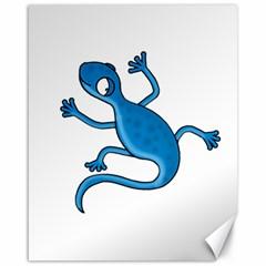 Blue lizard Canvas 16  x 20