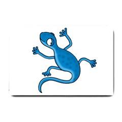 Blue lizard Small Doormat