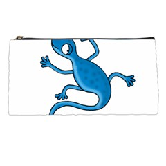 Blue lizard Pencil Cases
