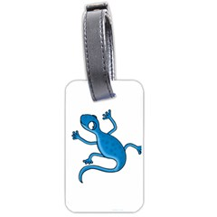 Blue lizard Luggage Tags (Two Sides)