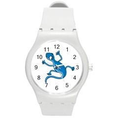 Blue lizard Round Plastic Sport Watch (M)