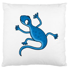 Blue lizard Large Cushion Case (Two Sides)