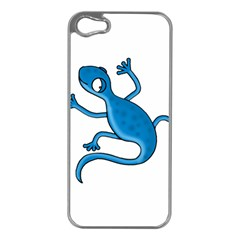 Blue lizard Apple iPhone 5 Case (Silver)