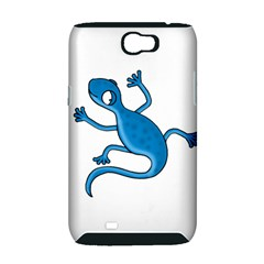 Blue lizard Samsung Galaxy Note 2 Hardshell Case (PC+Silicone)