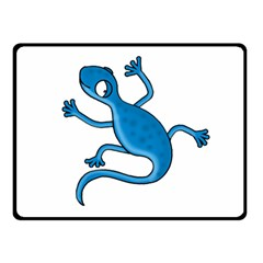 Blue lizard Double Sided Fleece Blanket (Small)